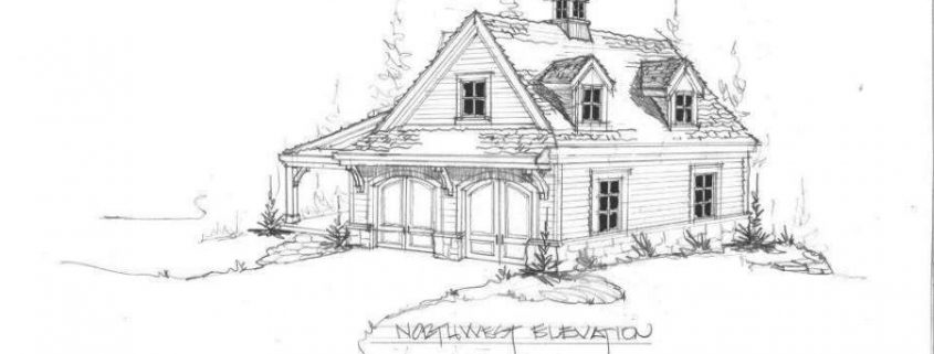 Small Cottage Sketch - Home Design Group