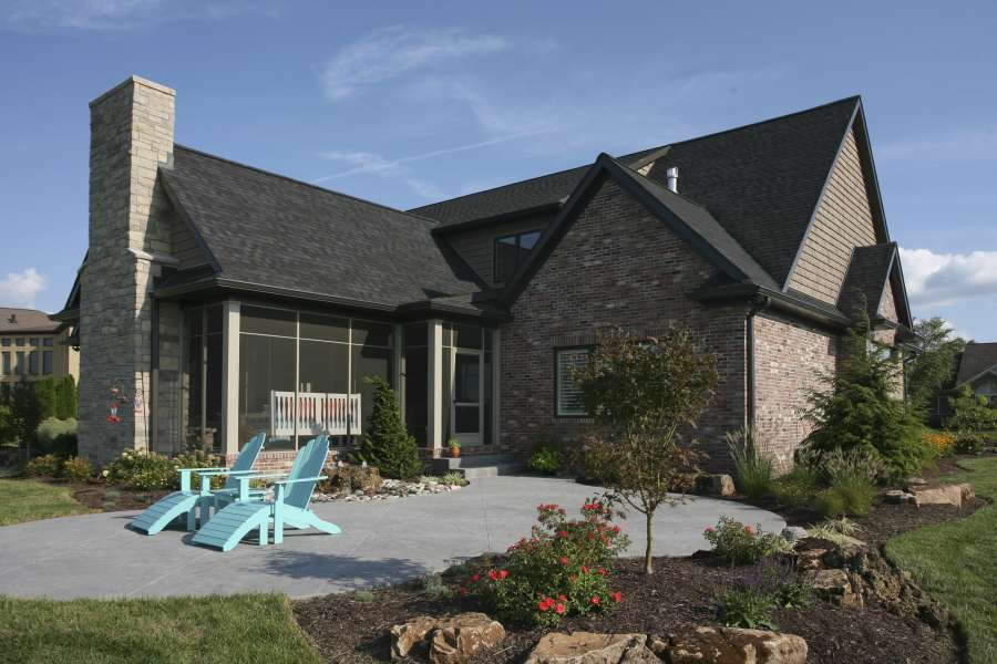traditional brick home rear home design group