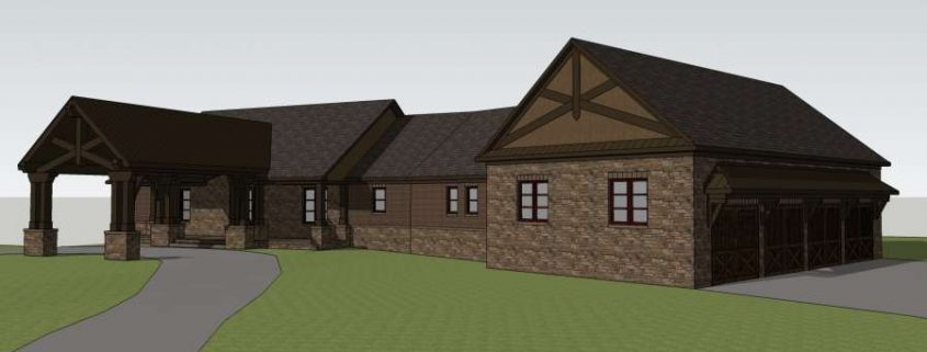 Brick Ranch Rendering Home Design Group